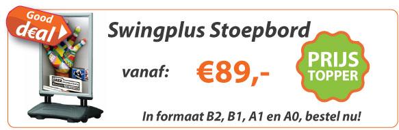 Stoepbord Swingplus Actie