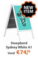 Stoepbord Sydney White A1