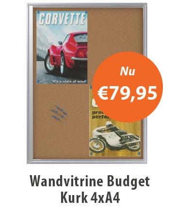 Wandvitrine budget kurk 4A4